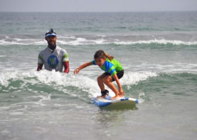Kid surfing