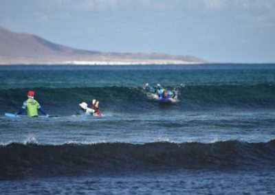 Surf practice in Famara beach
