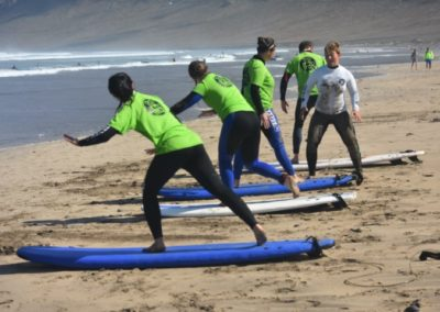 Surf practica movimientos